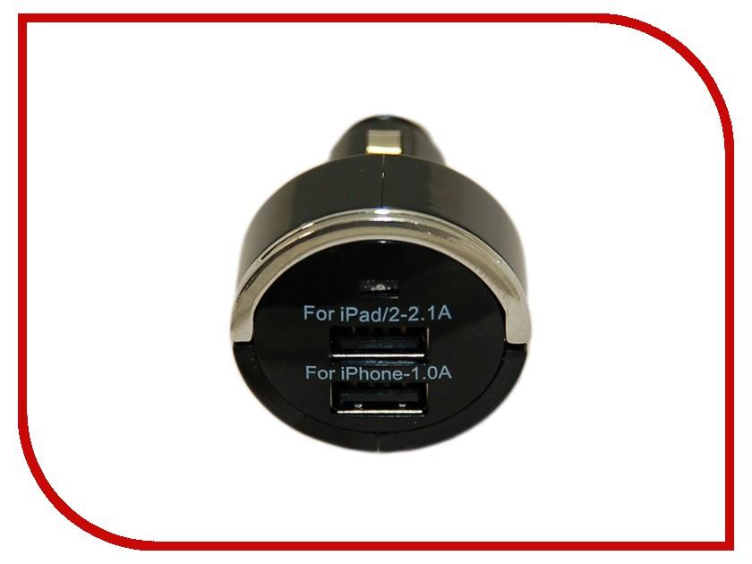 Зарядное устройство Palmexx PX/PCA-2USB-3.1A-BL Black