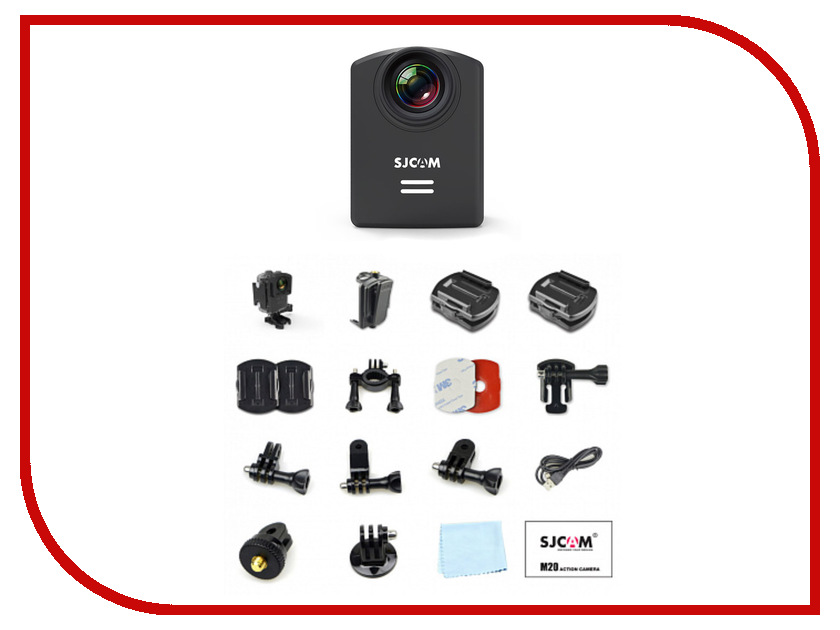Экшн-камера SJCAM M20 Black аксессуар sjcam sj cm m20 for sjcam m20 зарядное устройство