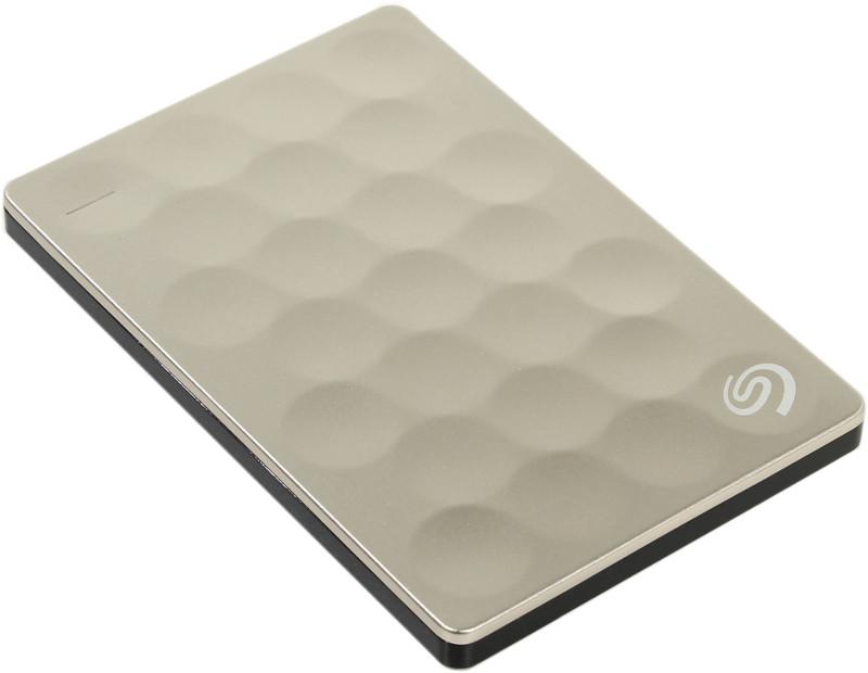 Жесткий диск Seagate Backup Plus Ultra Slim 2Tb Gold STEH2000201 внешний жесткий диск 2 5 2000gb seagate steh2000201 usb3 0 backup plus ultra slim золотой