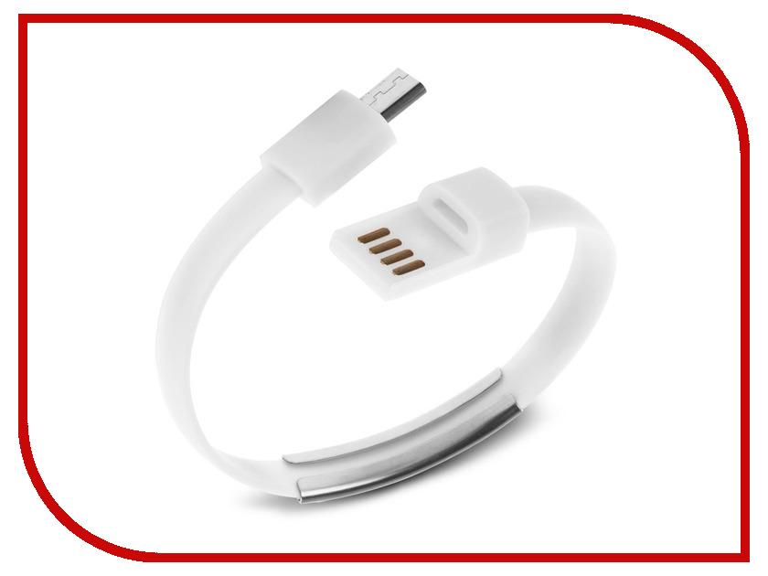 Аксессуар IQ Format Bracelet micro USB White<br>