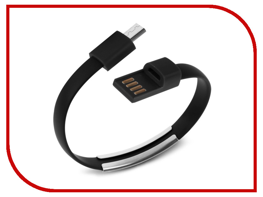 Аксессуар IQ Format Bracelet micro USB Black<br>