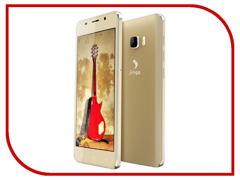 Сотовый телефон Jinga Basco L500 Gold смартфон jinga basco l500 3g 4gb black