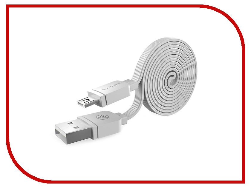 Аксессуар ALDOM Micro USB - Lightning 511ADMND501W White аксессуар aldom micro usb lightning 511admns5013 gold