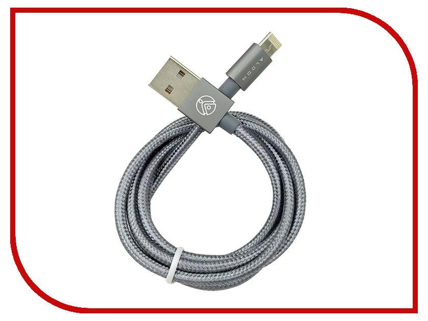 Аксессуар ALDOM Micro USB - Lightning 511ADMNS501G Grey<br>