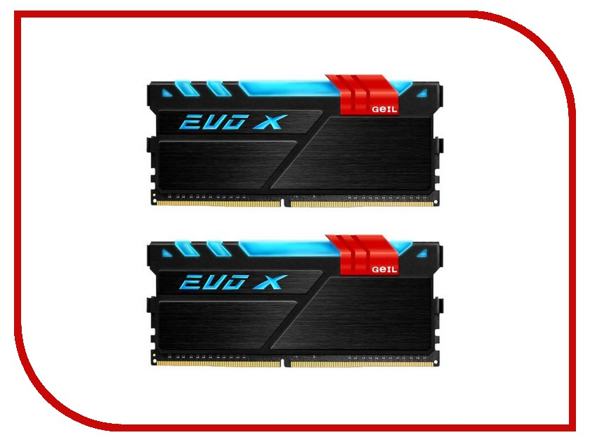 Модуль памяти GeIL EVO X DDR4 DIMM 3200MHz PC4-25600 CL16 - 16Gb KIT (2x8Gb) GEX416GB3200C16DC<br>