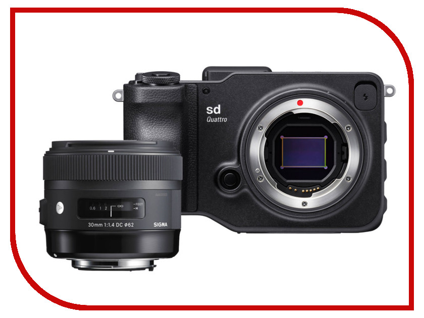 Фотоаппарат Sigma sd Quattro AF 30 mm F/1.4 DC HSM