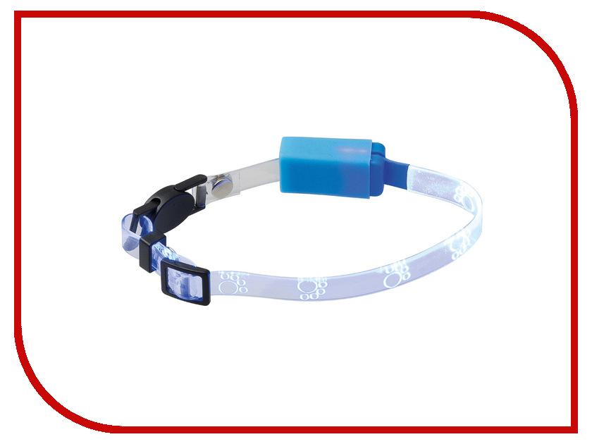 Ошейник светодиодный V.I.Pet Лапки 20-27cm Blue 14-9005