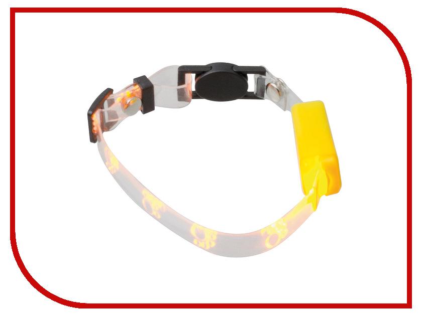 Ошейник светодиодный V.I.Pet Лапки 20-27cm Yellow 14-9006<br>