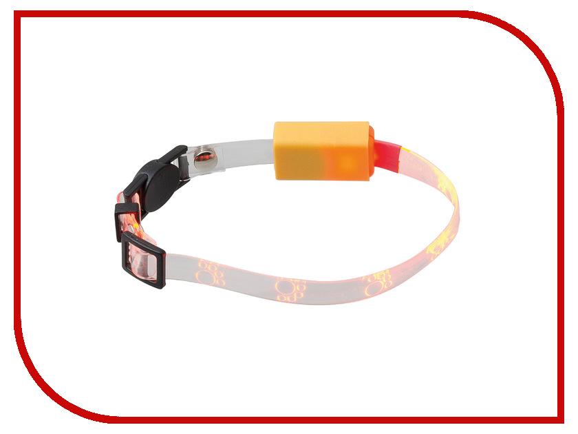 Ошейник светодиодный V.I.Pet Лапки 20-27cm Orange 14-9004<br>