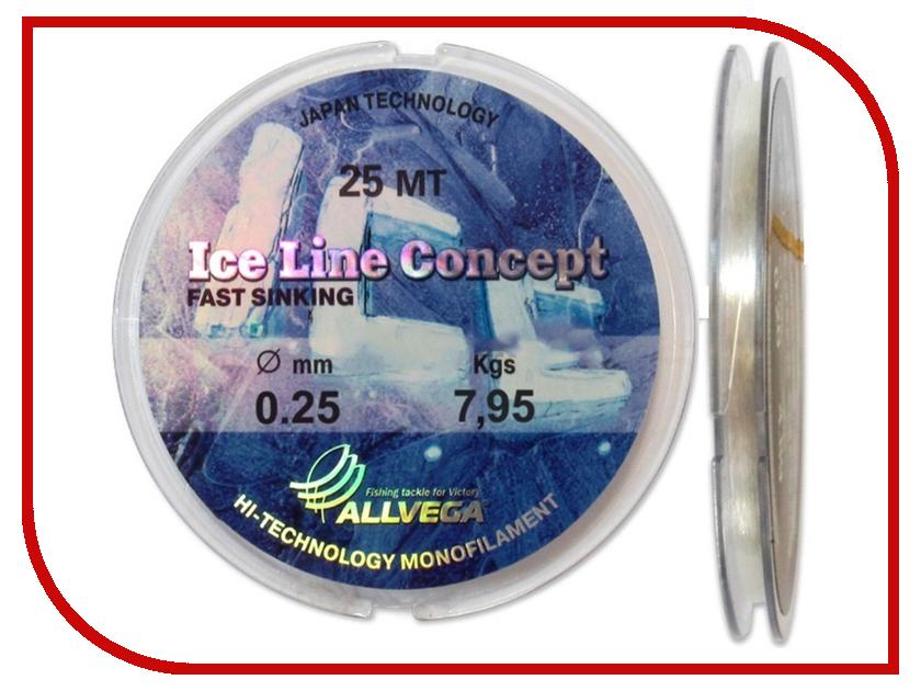 Леска Allvega Ice Line Concept 25m 0.25mm LILC2525<br>
