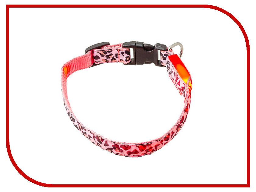 Ошейник светодиодный V.I.Pet Леопард 28-40cm 14-3100M<br>