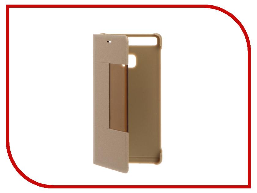 Аксессуар Чехол Huawei P9 Flip Smart Cover Gold<br>