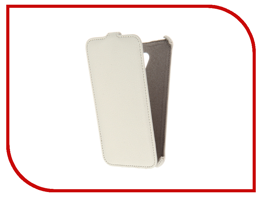 Аксессуар Чехол Meizu M3E Activ Flip Case Leather White 61610<br>