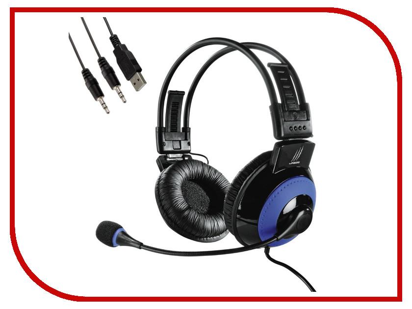 Гарнитура Hama uRage Vibra Black-Blue H-113721 компьютерная гарнитура hama black stripe черный hama black stripe