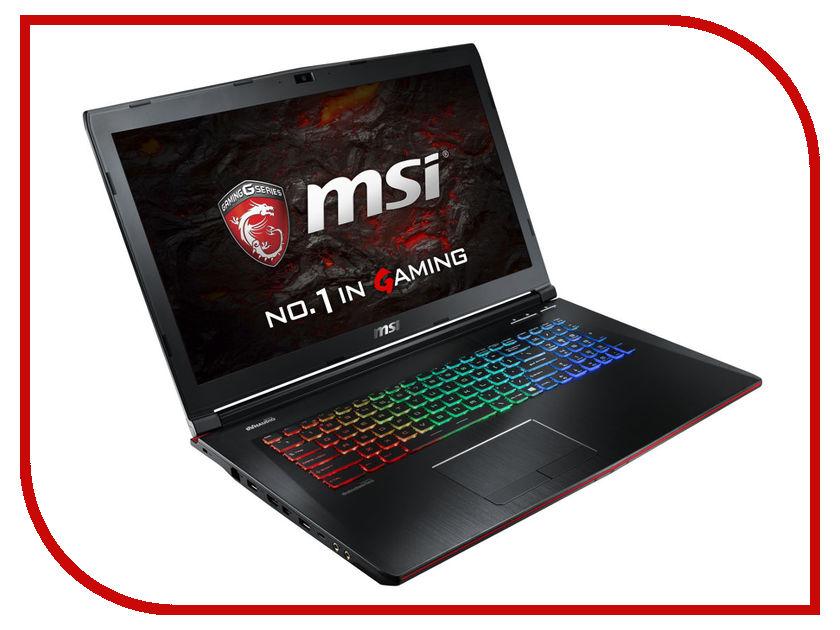 Ноутбук MSI GE72VR 6RF-213RU 9S7-179B11-213 (Intel Core i7-6700HQ 2.6 GHz/16384Mb/1000Gb + 128Gb SSD/DVD-RW/nVidia GeForce GTX 1060 3072Mb/Wi-Fi/Cam/17.3/1920x1080/Windows 10 64-bit)