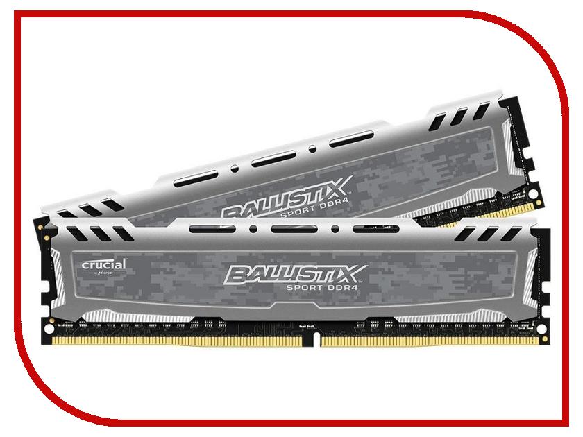 Модуль памяти Crucial Ballistix Sport DDR4 UDIMM 2400MHz PC4-19200 CL16 - 8 KIT (2x4Gb) BLS2C4G4D240FSB
