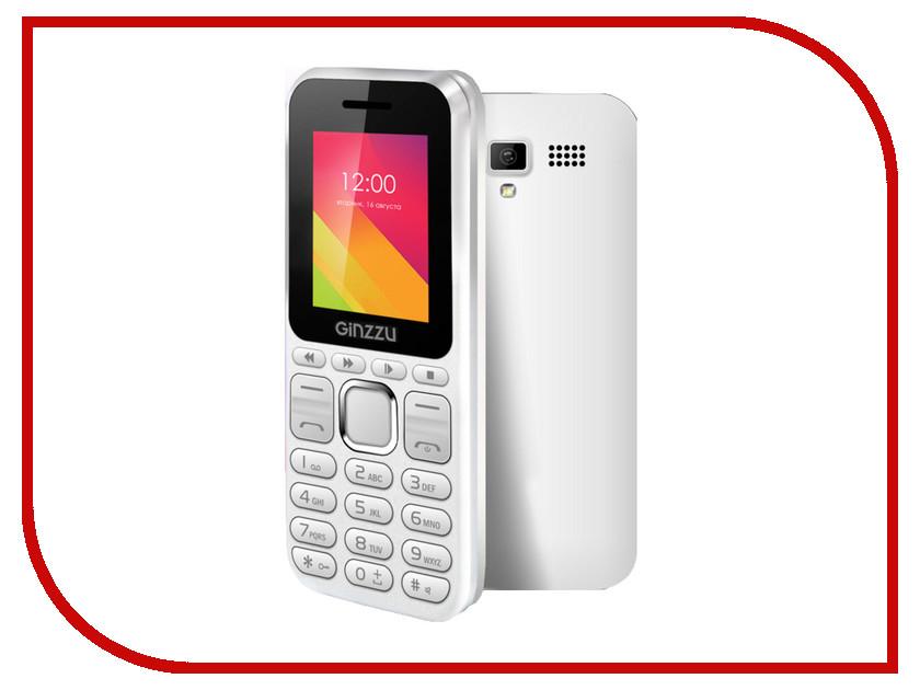 Сотовый телефон Ginzzu M102 DUAL mini White мобильный телефон ginzzu m102 mini dual white белый
