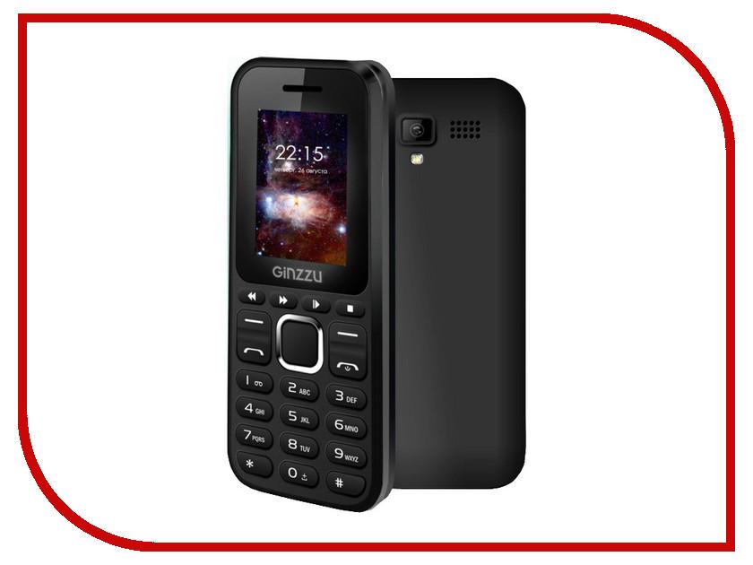 Сотовый телефон Ginzzu M102 DUAL mini Black мобильный телефон ginzzu m102 mini dual white белый