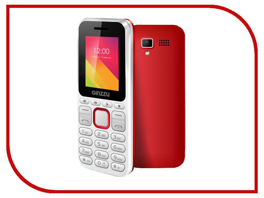 Сотовый телефон Ginzzu M102 DUAL mini White-Red<br>