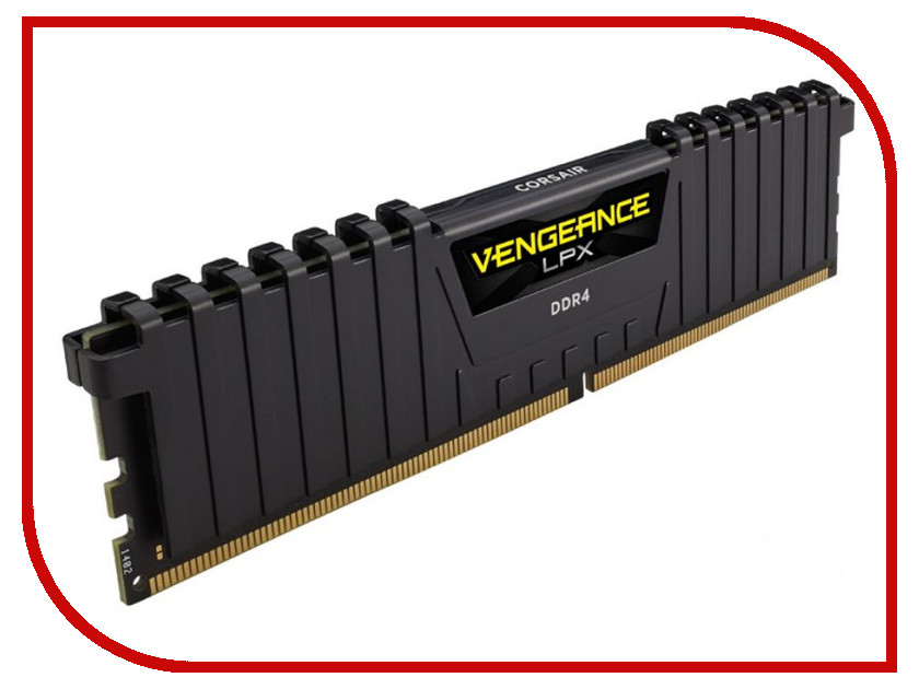 Модуль памяти Corsair Vengeance LPX DDR4 DIMM 2400MHz PC4-19200 CL16 - 4Gb CMK4GX4M1A2400C16 модуль памяти corsair vengeance lpx cmk32gx4m4b3733c17r ddr4 4x 8гб 3733 dimm ret