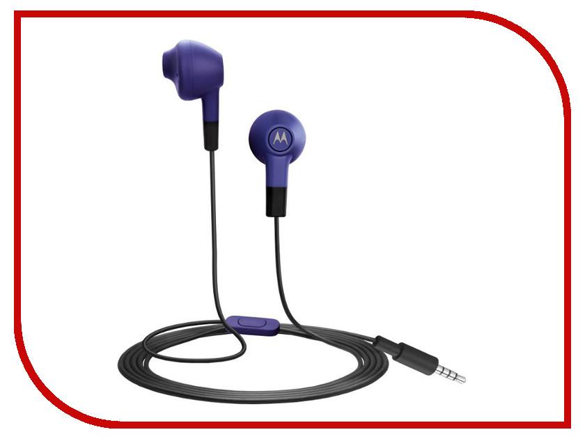 Гарнитура Motorola Moto Earbuds Blue<br>
