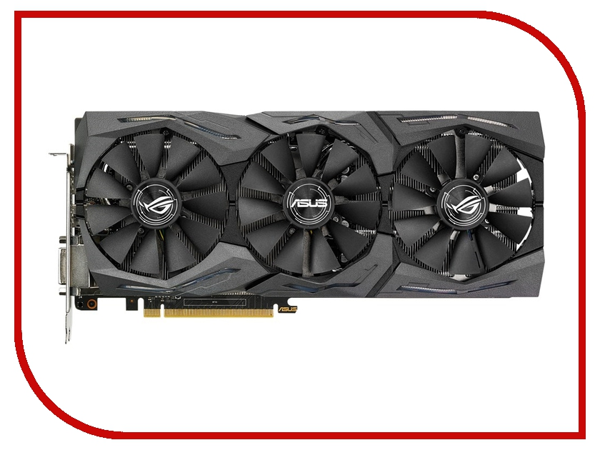 Видеокарта ASUS Radeon RX 480 1266Mhz PCI-E 3.0 8192Mb 8000Mhz 256 bit DVI 2xHDMI HDCP STRIX-RX480-8G-GAMING<br>
