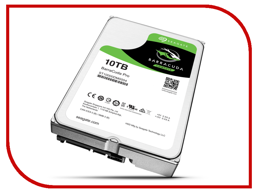 Жесткий диск 10Tb - Seagate Barracuda Pro ST10000DM0004 2tb seagate barracuda st2000dm001