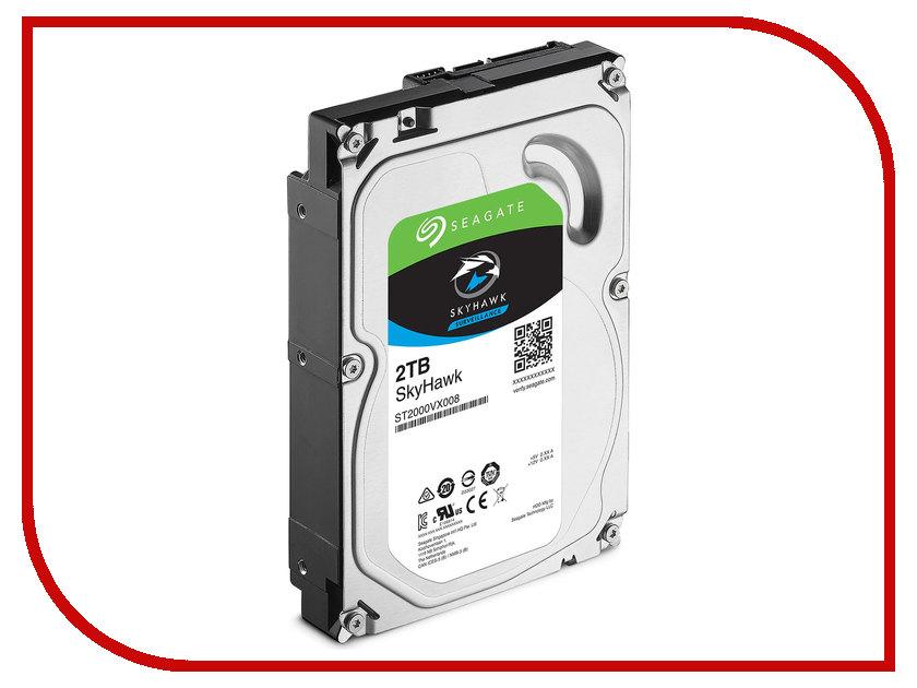 Жесткий диск 2Tb - Seagate SkyHawk ST2000VX008 жесткий диск 2tb seagate st2000nm0045