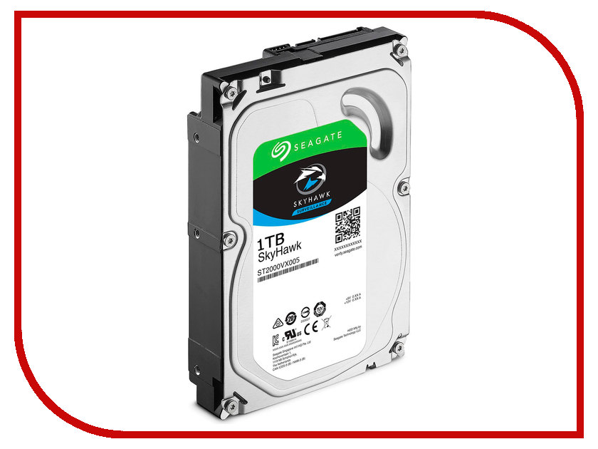 Жесткий диск 1Tb - Seagate SkyHawk ST1000VX005 жесткий диск hdd 6тб seagate skyhawk st6000vx0023