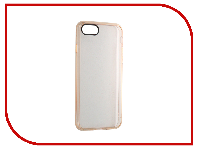 Аксессуар Чехол ROCK Pure для APPLE iPhone 7 Transparent-Gold<br>
