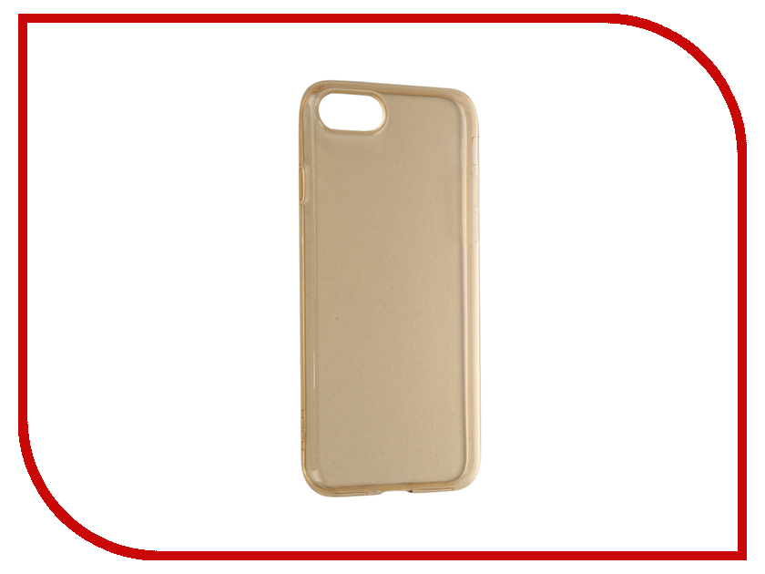 Аксессуар Чехол ROCK Ultrathin TPU Slim Jacked для APPLE iPhone 7 Transparent-Gold<br>