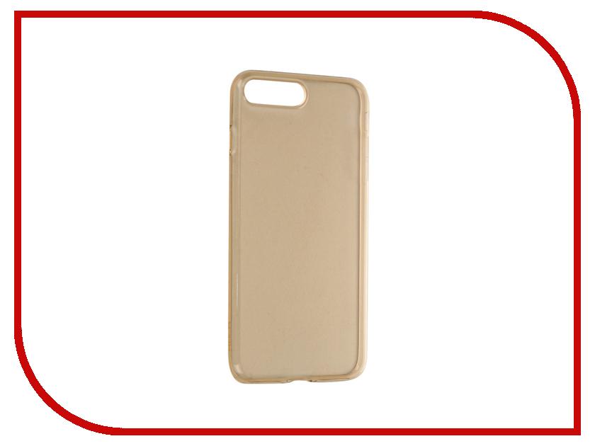 Аксессуар Чехол ROCK Ultrathin TPU Slim Jacked для APPLE iPhone 7 Plus Transparent-Gold<br>