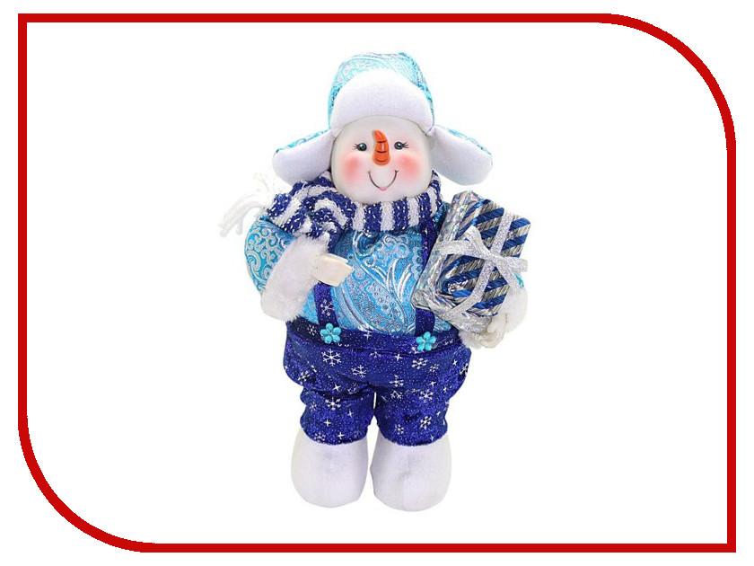 Игрушка Новогодняя Сказка Снеговик 30см Blue 949195