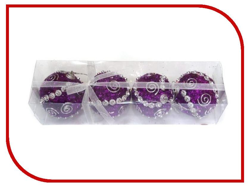 Украшение Новогодняя Сказка Набор шаров 4шт Violet 972183<br>
