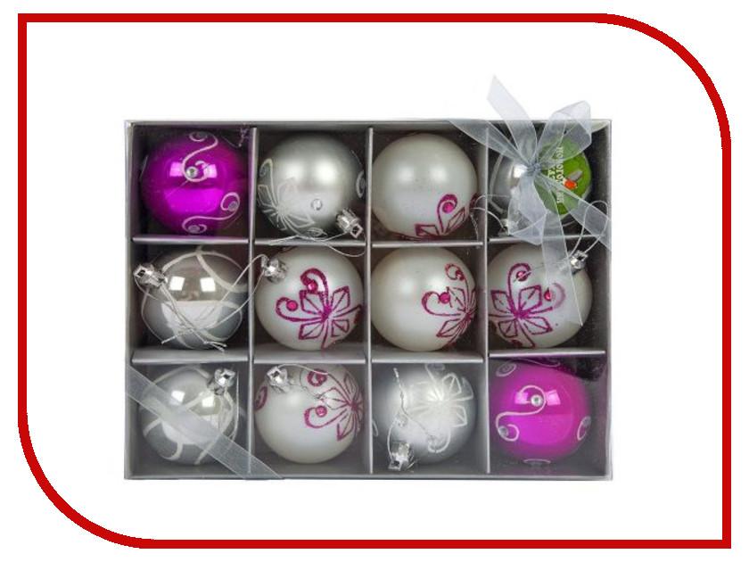 Украшение Новогодняя Сказка Набор шаров 12шт Pink-Silver 972344<br>