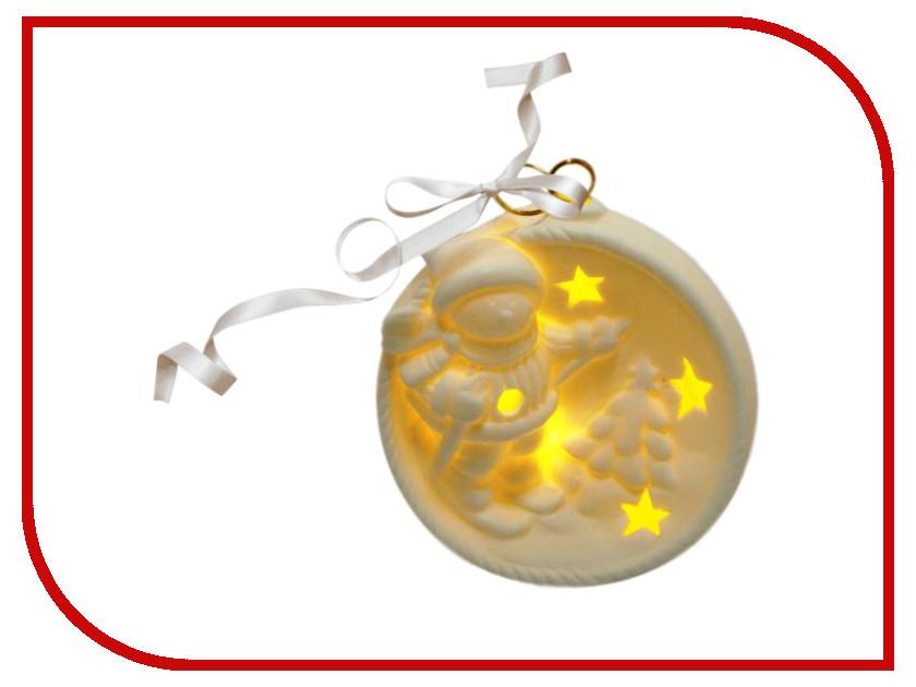 Украшение Новогодняя Сказка LED Снеговик 9см White 972439<br>