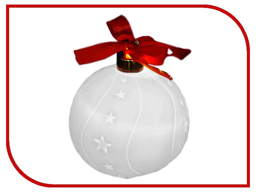 Украшение Новогодняя Сказка LED Шар 7.5см White 972065