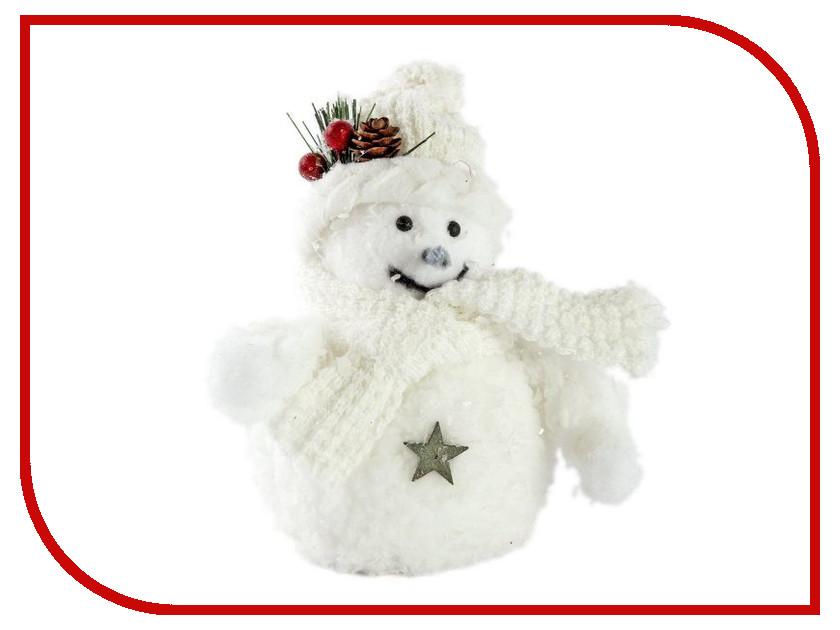 Украшение Новогодняя Сказка Снеговик 12см White 972384