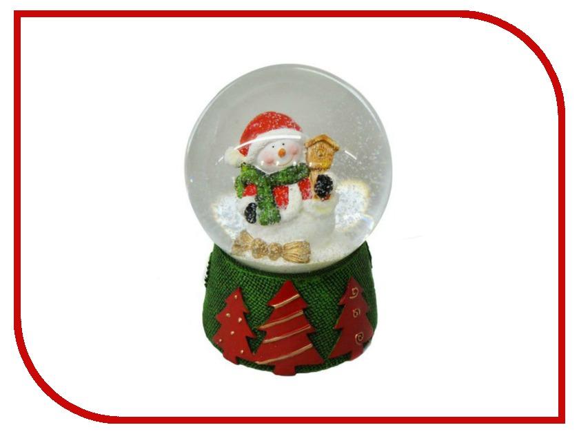 Снежный шар Новогодняя Сказка Снеговик 8см 972494