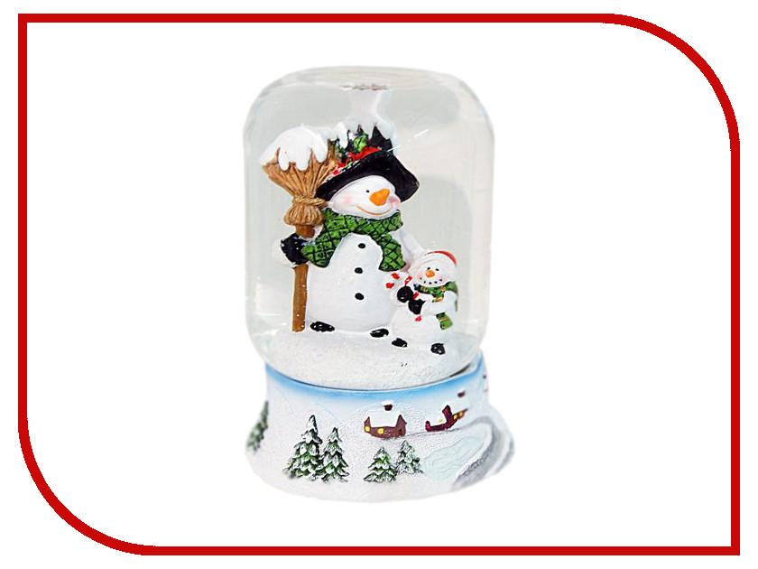 Снежный шар Новогодняя Сказка Снеговик 9х11см 972088<br>