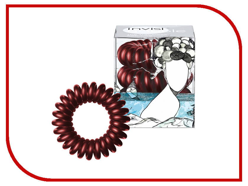 Резинка для волос Invisibobble Burgundy Dream 3 штуки