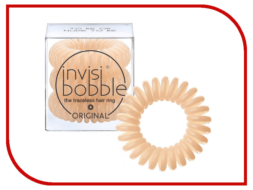 Резинка для волос Invisibobble Original To Be or Nude to Be 3 штуки invisibobble резинка для волос бежевого цвета original queen of the jungle 3 шт резинка для волос бежевого цвета original queen of the jungle 3 шт 3 шт уп
