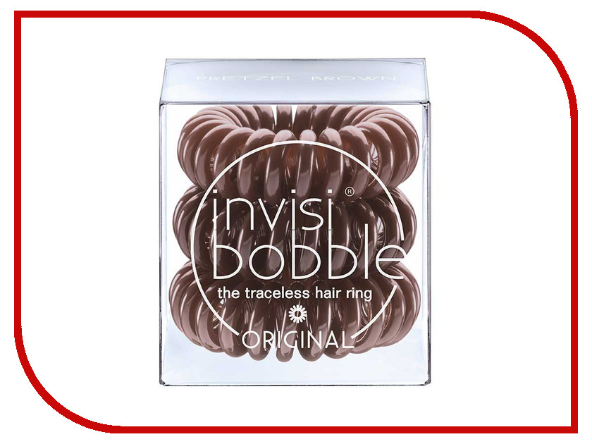 Резинка для волос Invisibobble Original Pretzel Brown 3 штуки