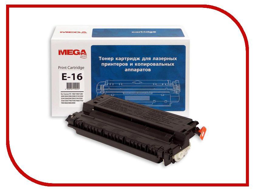 Картридж ProMega Print E-16 для Canon FC108/FC128/FC200 Black<br>