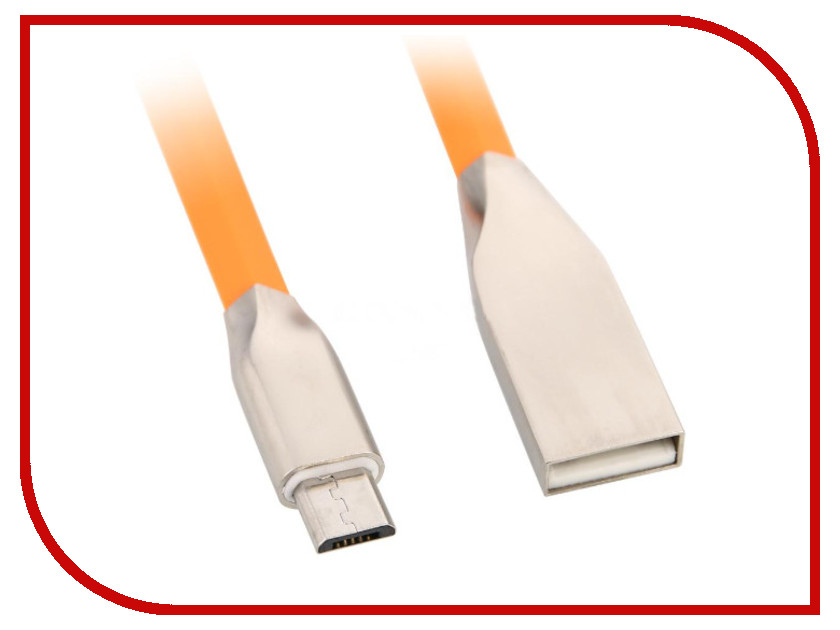 Аксессуар HQ USB - Micro USB 1m Orange CABLE-60410ORAN1.0
