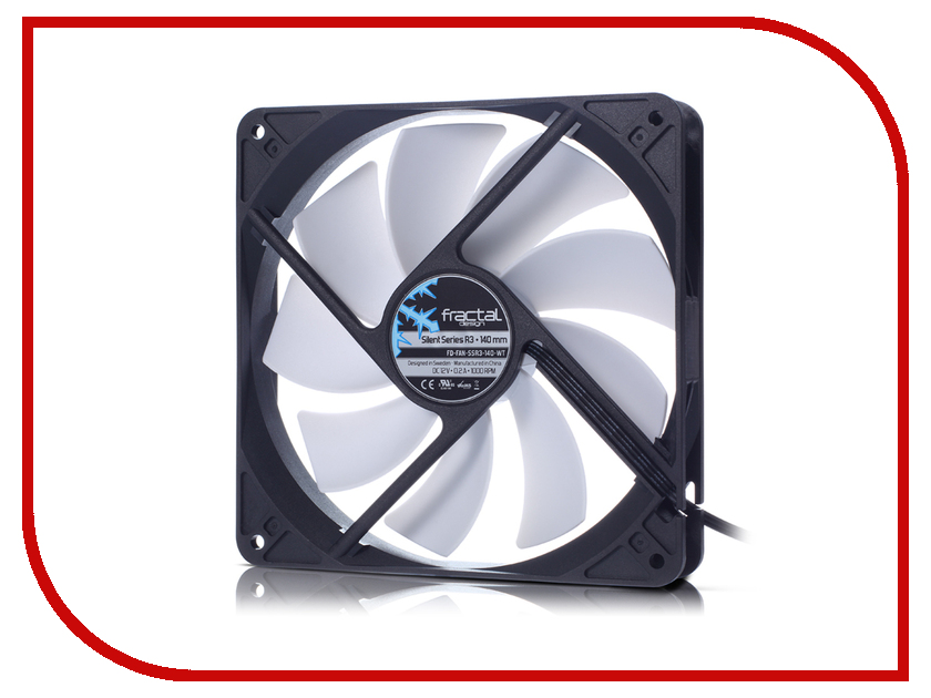 Вентилятор Fractal Design Silent Series R3 140mm FD-FAN-SSR3-140-WT