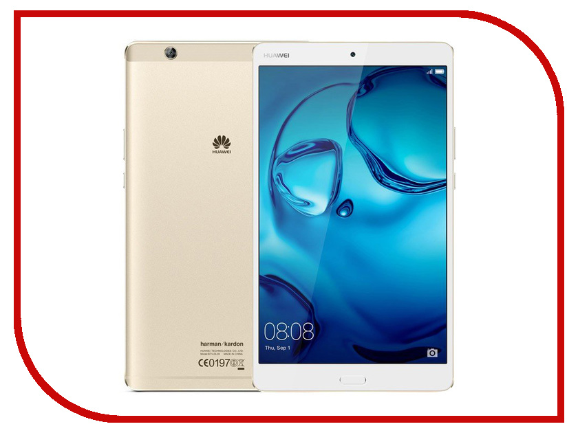 Планшет Huawei MediaPad M3 8 LTE 64Gb BTV-DL09 Gold 53017256 (Kirin 950 2.3GHz/4096Mb/64Gb/GPS/LTE/3G/Wi-Fi/Bluetooth/8.4/2560x1600/Android) genuine sim card slot for huawei mediapad m3 btv dl09 btv w09 4g or wifi version sim card reader tray holder replacement repair