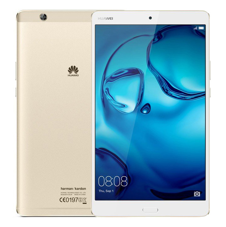 Планшет Huawei MediaPad M3 8 LTE 64Gb BTV-DL09 Gold 53017256 (Kirin 950 2.3GHz/4096Mb/64Gb/GPS/LTE/3G/Wi-Fi/Bluetooth/8.4/2560x1600/Android) планшет huawei mediapad m3 lite 32gb 8 0 lte gold
