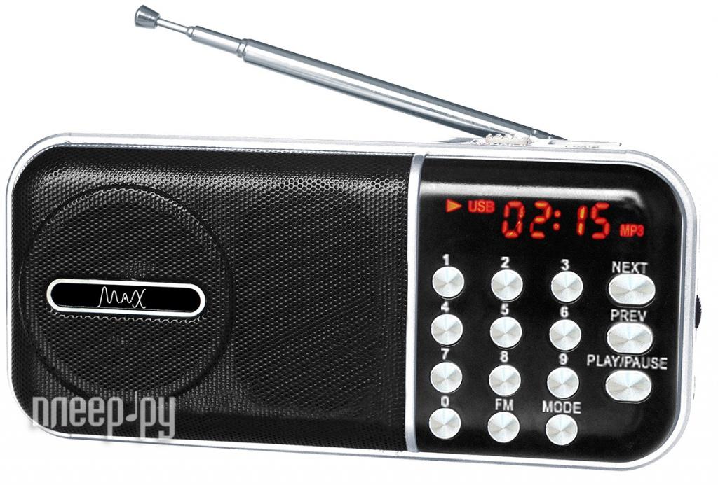 Радиоприемник MAX MR-321 Silver радиоприемник max mr 321