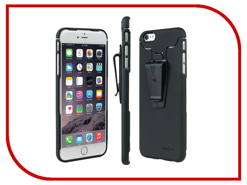 Аксессуар Чехол Nite Ize Connect Case для APPLE iPhone 6 Plus Black STCNTI6P-01-R8